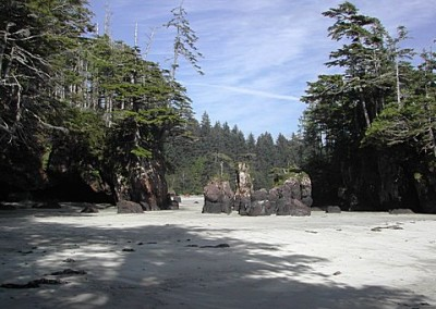 More sea stacks between First and Second Beach