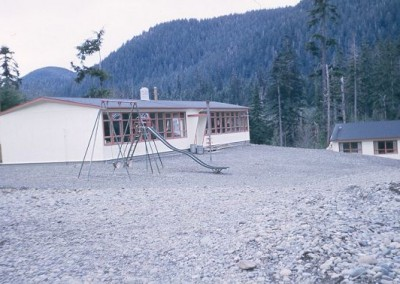 A quiet school building during the summer holidays