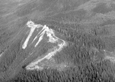 Aerial photo of the Operations site at Holberg