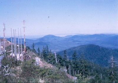 Communications poles at the antenna farm