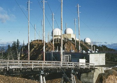 GATR site and 3 radomes of Operations site - May 1970