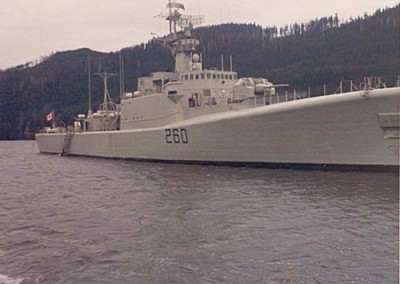 HMCS Columbia in the Holberg chuck