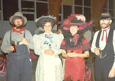 Klondike Days. (L-R) Doug (CO) & Meg Dickson with Joan & George Semple