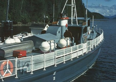 Nimkpish II tied up at Holberg dock - June 1970