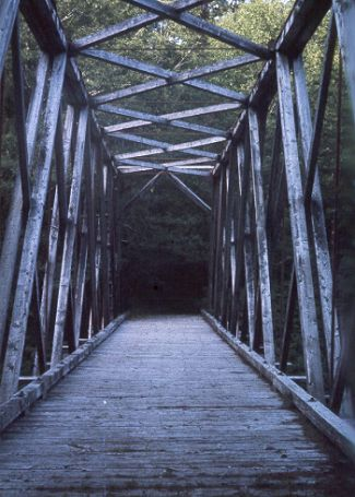 Old government bridge over the Goodspeed River