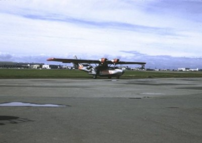 RCAF Canso aircraft at Sea Island airport en route to Holberg