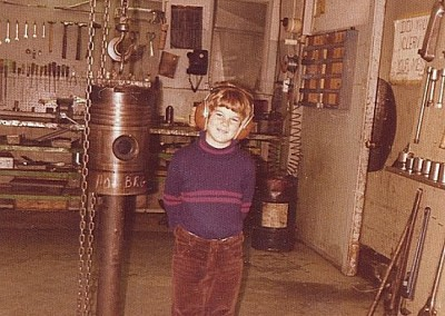 Scott Connolly visits the Power Plant - February 1974
