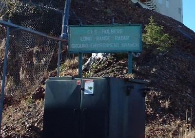 Sign for CFS Holberg Long Range Radar station