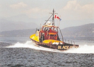The Black Duck, vessel M.872, was a replacement vessel during the Nimpkish maintenance period