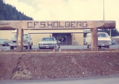 The Station sign, on our last day in Holberg - April 1975