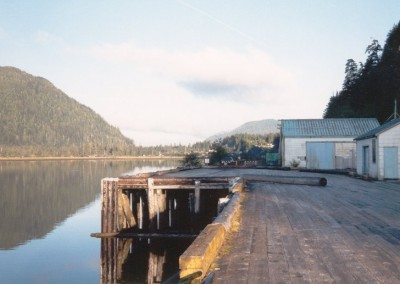 The dock where Ivan Schnare tied up the Nimpkish