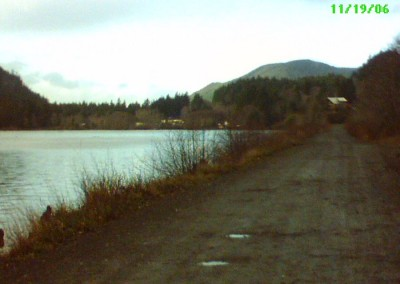 Looking back from the Holberg Dock, towards the logging camp (2006).