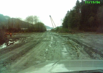 """Holberg Log Dump: I worked for about 2 months at the nearby weigh scale, as a """"3rd Loader."""""""