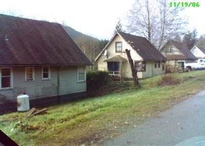 """Some of the picturesque """"heritage houses"""" from Port Alice"""