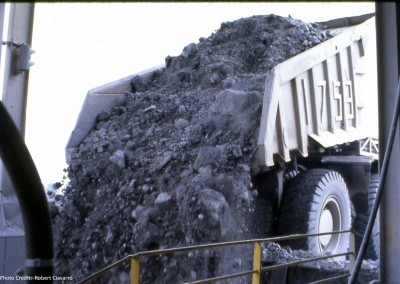 Here is a load being dumped into what I think was called a crusher.