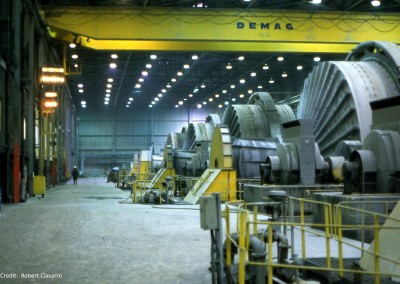 The very noisy mill where I worked and fought boredom.