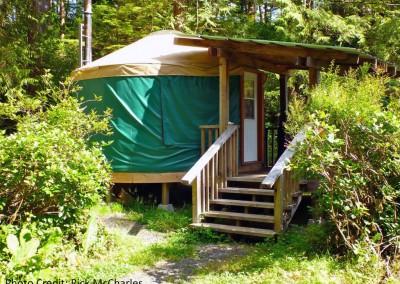 Ranger's Yurt at Cape Scott trailhead parking lot by Rick